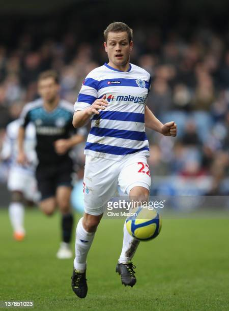 Heidar Helguson of Queens Park Rangers in action during the FA Cup with Budweiser Fourth Round match between Queens Park Rangers and Chelsea at...