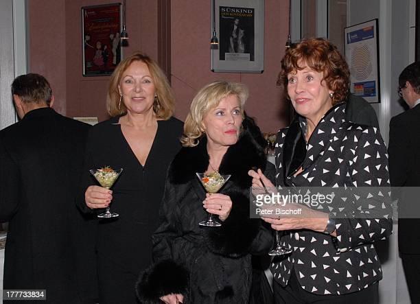 """Heide Keller, Christine Schild, Hannelore Cremer , Feier zum 60. Geburtstag von C H R I S T I N E S C H I L D, nach dem Theaterstück """"Der..."""