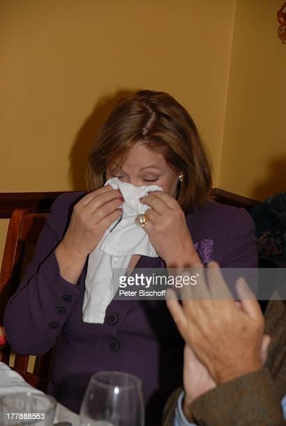 """Heide Keller , Party zum 70. Geburtstag von Heide Keller, neben den Dreharbeiten zur ZDF-Reihe """"Traumschiff"""", Folge 62 """"Indian Summer"""", Restaurant..."""