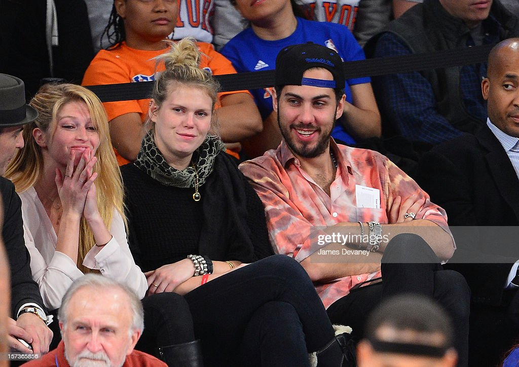 Heide Lindgren and Alexandra Richards attend the Phoenix Suns vs New York Knicks game at Madison Square Garden on December 2, 2012 in New York City.