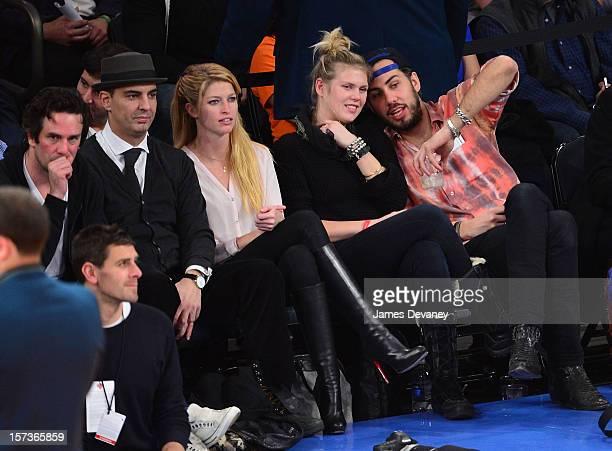Heide Lindgren and Alexandra Richards attend the Phoenix Suns vs New York Knicks game at Madison Square Garden on December 2 2012 in New York City
