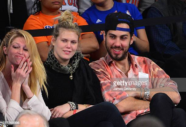 Heide Lindgren and Alexandra Richards attend the Phoenix Suns vs New York Knicks game at Madison Square Garden on December 2 2012 in New York City