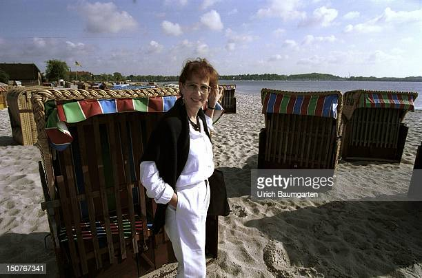 Heide SIMONIS prime minister of SchleswigHolstein on the beach of Eckernfoerde