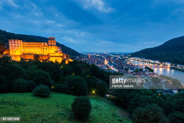 Heidelberg Castle at night