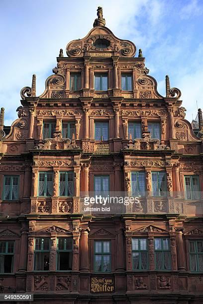 Heidelberg Hotel Zum Ritter renaissance facade Middle Ages