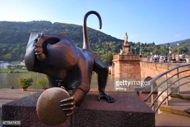 alte brücke in heidelberg - heidelberg stock-fotos und bilder