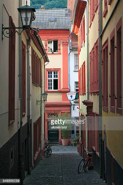 Heidelberg old town alleyway narrow alley Kuechengaesschen
