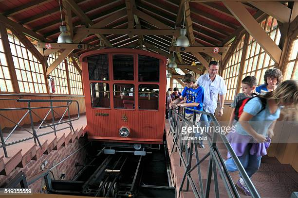 Heidelberger Bergbahn or Heidelberg Mountain Railway is a two section funicular railway station Koenigstuhl