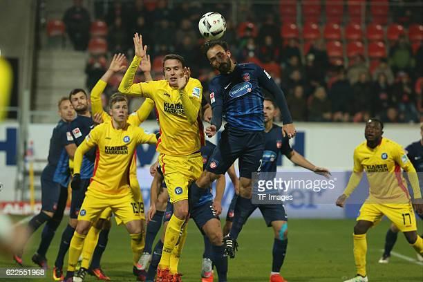 Heidenheim, Germany, , 2. Bundesliga, 2016/17, 12. Spieltag, FC Heidenheim vs Karlsruher SC, Bjarne Thoelke , Robert Strauss ,