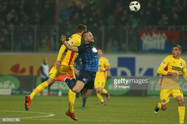 Heidenheim, Germany, , 2. Bundesliga, 2016/17, 12. Spieltag, FC Heidenheim vs Karlsruher SC, Bjarne Thoelke , John Verhoek ,