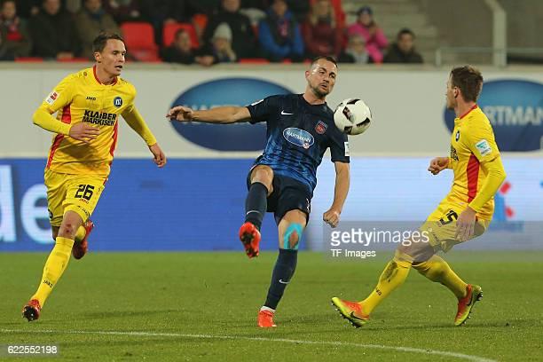 Heidenheim, Germany, , 2. Bundesliga, 2016/17, 12. Spieltag, FC Heidenheim vs Karlsruher SC, Bjarne Thoelke , John Verhoek , Matthias Bader ,
