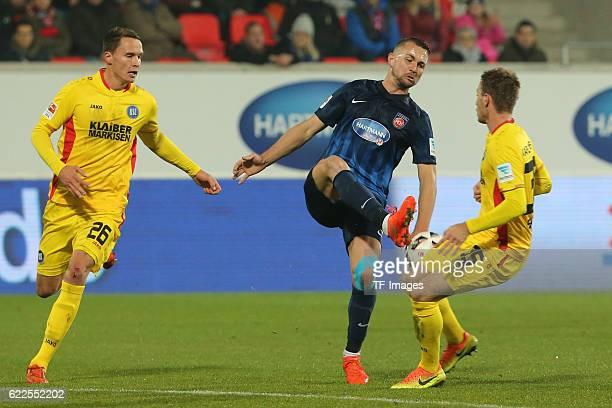 Heidenheim Germany 2 Bundesliga 2016/17 12 Spieltag FC Heidenheim vs Karlsruher SC Bjarne Thoelke John Verhoek Matthias Bader