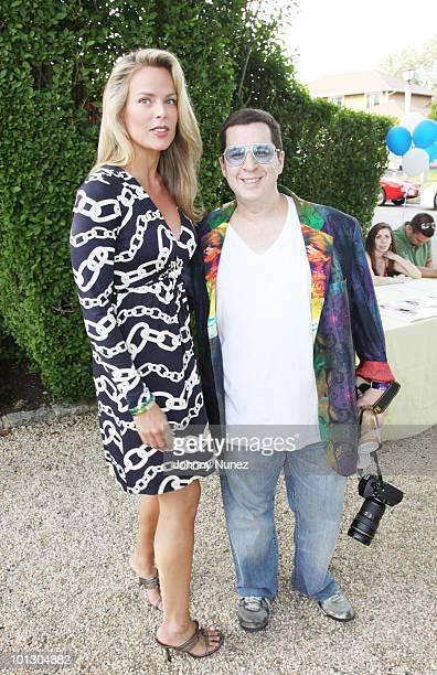 Heidi Albertsen and Noah G Pop attend Haley Jason Binn's Memorial Day party on May 30 2010 in Southampton New York