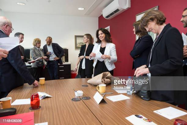 Heidi Allen Chuka Umunna Anna Soubry Mike Gapes and Chris Leslie at Change UK The Independent Group's West Midlands election rally on May 10 2019 in...