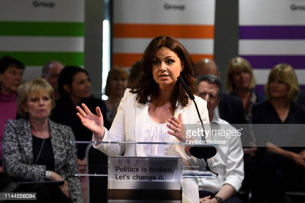 Heidi Allen MP at the launch of The Independent Group European election campaign at We The Curious on April 23 2019 in Bristol England With a high...