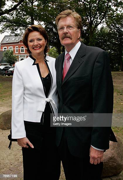 Heidi and Lothar Becker the parents of the Bride are pictured prior to the wedding ceremony or Sky and Mirja Dumont at the WeddingChurch in...