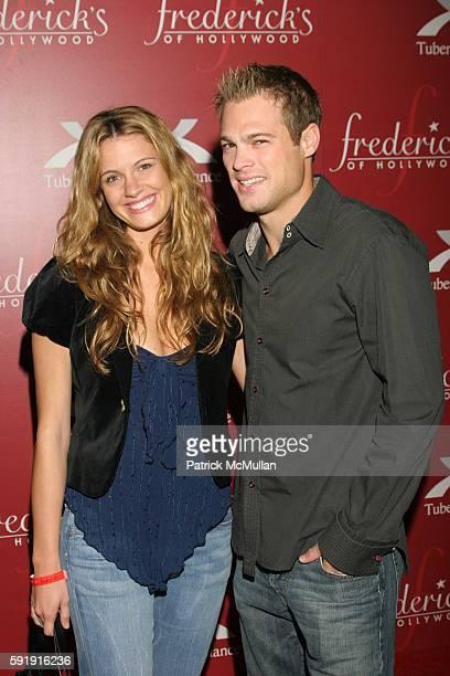 Heidi Androl and George Stults attend Frederick's of Hollywood Spring 2006 Collection Arrivals at The Avalon on October 26 2005 in Hollywood CA