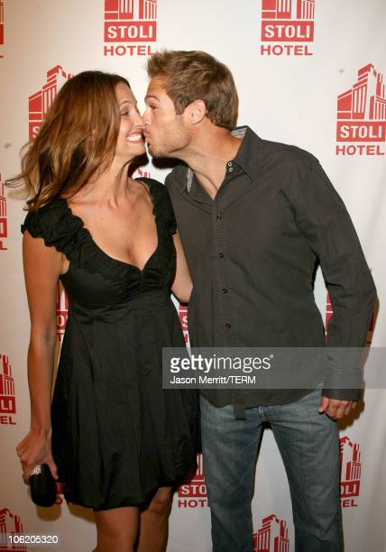 Heidi Androl and George Stults during Grand Opening of the Stoli Hotel in Hollywood May 2 2007 at Stoli Hotel in Hollywood California United States
