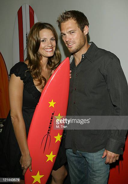 Heidi Androl and George Stults during Rebel Boards Gift Suite at the Grand Opening of the Stoli Hotel at Ivar at Ivar in Hollywood California United...