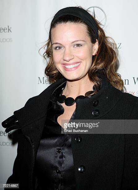 Heidi Androl attends Mercedes Benz Fashion Week at Smashbox Studios on October 18 2006 in Culver City California