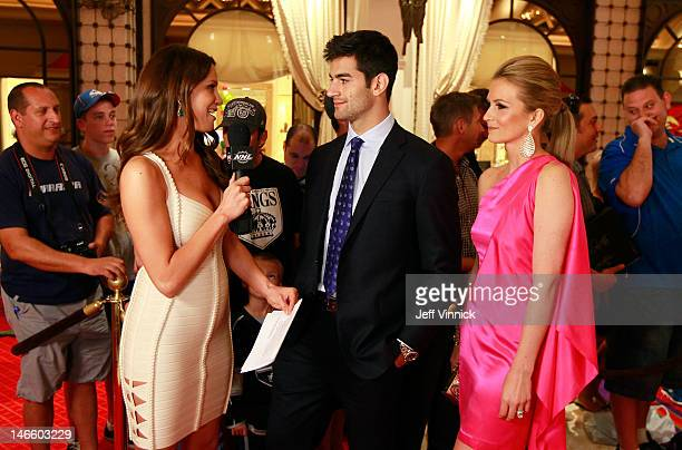 Heidi Androl of the NHL Network interviews Max Pacioretty of the Montreal Canadiens as he arrives before the 2012 NHL Awards at the Encore Theater at...