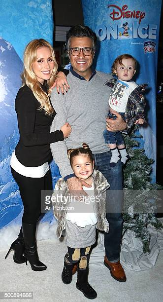 Heidi Balvanera Actor Jaime Camil Elena and Jaime III attend Disney On Ice Presents Frozen Los Angeles Premiere at Staples Center on December 10 2015...