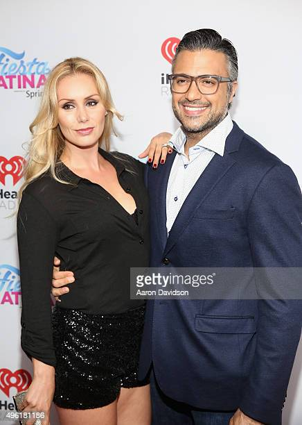 Heidi Balvanera and actor Jaime Camil attend iHeartRadio Fiesta Latina presented by Sprint at American Airlines Arena on November 7 2015 in Miami...