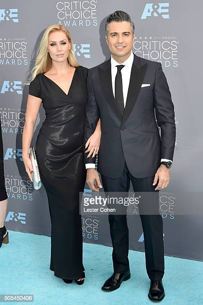 Heidi Balvanera and actor Jaime Camil attend the 21st Annual Critics' Choice Awards at Barker Hangar on January 17 2016 in Santa Monica California