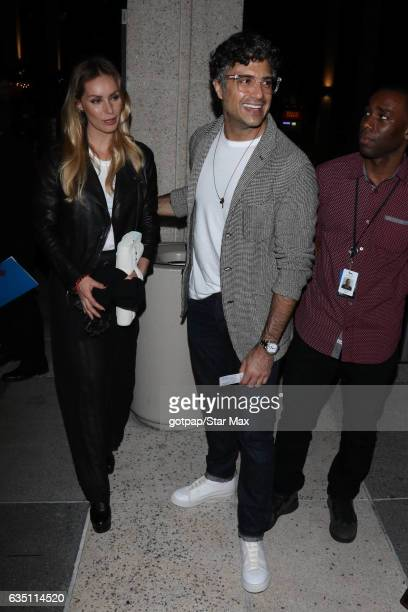 Heidi Balvanera and Jaime Camil are seen on February 12 2017 in Los Angeles CA