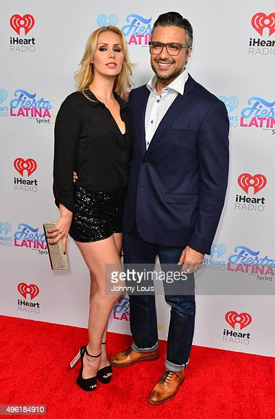 Heidi Balvanera and Jaime Camil arrive at I Heart Radio Festival Latina at American Airlines Arena on November 7 2015 in Miami Florida