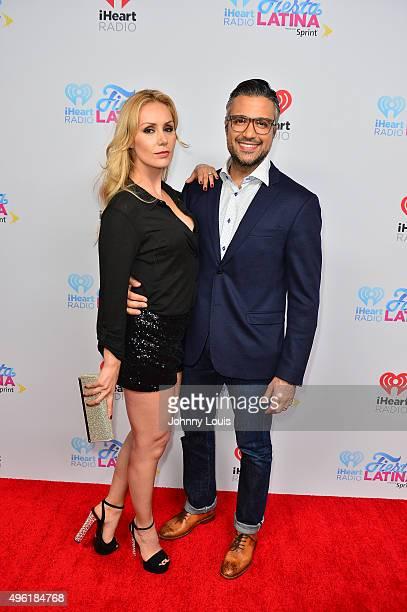 Heidi Balvanera and Jaime Camil arrives at I Heart Radio Festival Latina at American Airlines Arena on November 7 2015 in Miami Florida