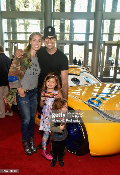 "Heidi Balvanera Elena Camil actor Jaime Camil and Jaime Camil II pose at the World Premiere of Disney/Pixar's ""Cars 3 at the Anaheim Convention..."