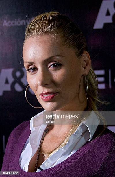 Heidi Balvanera poses for a photo during a press conference of the TV show Intervencion on October 6 2010 in Mexico City Mexico