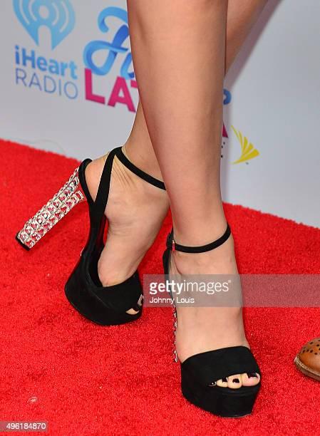 Heidi Balvanera shoe detail arrives at I Heart Radio Festival Latina at American Airlines Arena on November 7 2015 in Miami Florida