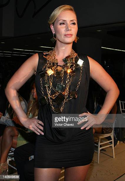 Heidi Balvanera walks the runway wearing Daniel Espinosa collection jewelry 2012 at Sport City on March 8 2012 in Mexico City Mexico