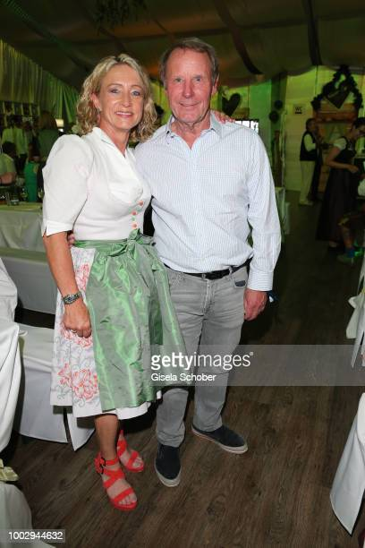 Heidi Beckenbauer and Berti Vogts during a bavarian evening ahead of the Kaiser Cup 2018 on July 20 2018 in Bad Griesbach near Passau Germany