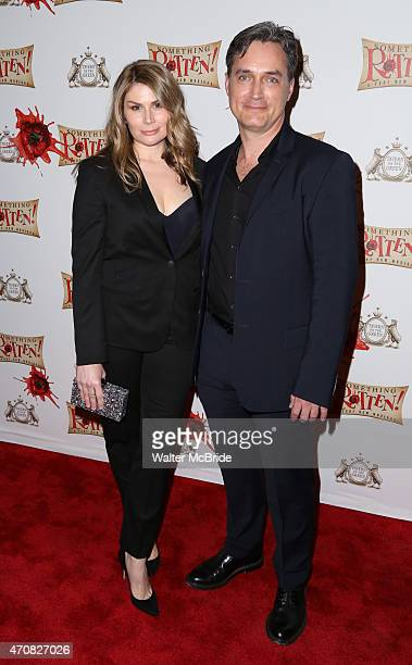 Heidi Blickenstaff and Nicholas Rohlfing attend the Broadway Opening Night After Party for 'Something Rotten' at Tavern on the Green on April 22 2015...