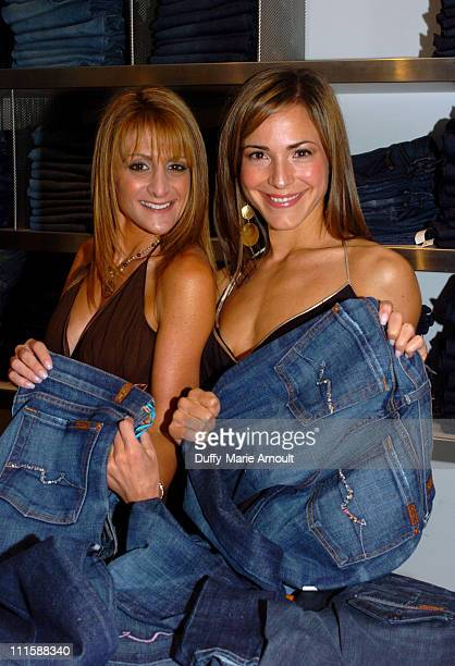 Heidi Bressler and Ereka Vetrini during Launch Party for 7 for All Mankind's New Crystallized by Swarovski Holiday Jeans at Barney's New York in New...