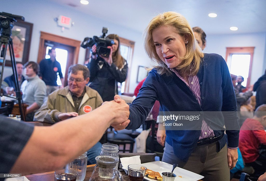Heidi Cruz And Carly Fiorina Campaign For Ted Cruz In Wisconsin