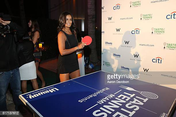 Heidi el Tabakh attends Taste Of Tennis At W South Beach #TASTEOFTENNIS at W Hotel on March 21 2016 in Miami Florida