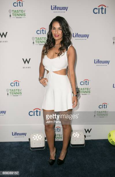 Heidi El Tabakh attends the Citi Taste Of Tennis Miami at W Hotel on March 20 2017 in Miami Florida