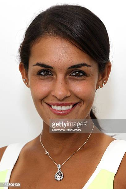Heidi El Tabakh poses for a head shot at Roland Garros on May 24 2012 in Paris France