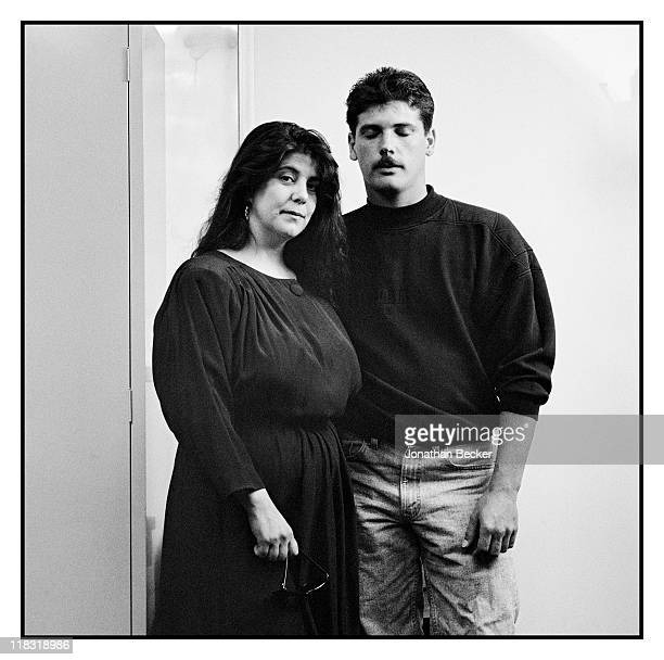 Heidi Fernandez and Sean Hyde supporters of Dr Jack Kevorkian are photographed for Vanity Fair Magazine on April 1224 1994 in Detroit Michigan