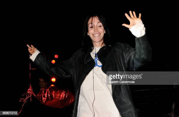 Heidi Fleiss is evicted from the Celebrity Big Brother House at Elstree Studios on January 15 2010 in London England