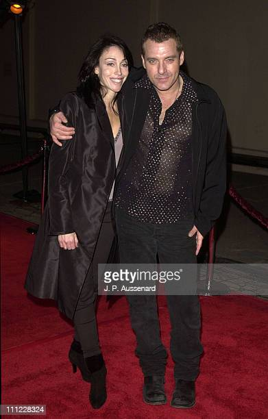 Heidi Fleiss Tom Sizemore during Sins of the Father Premiere at 20th Century Fox Studio Lot in Los Angeles California United States