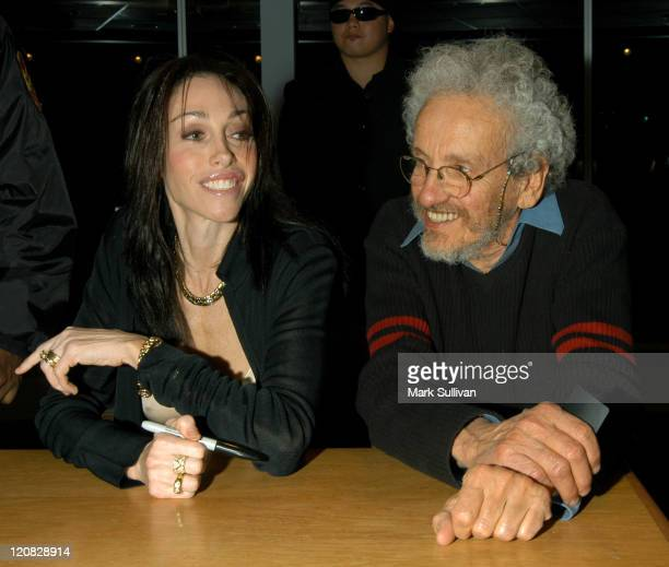 Heidi Fleiss with her father Paul Fleiss during Heidi Fleiss Signing Her Book Pandering at Borders Books in Westwood California United States