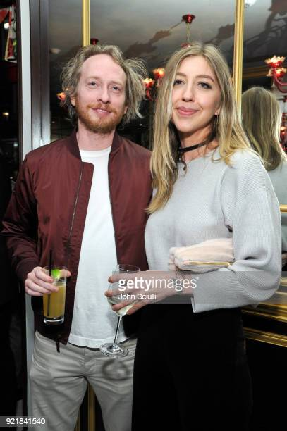 Heidi Gardner and guest attend GQ and Oliver Peoples Celebrate Timothee Chalamet March Cover Dinner at Nomad Los Angeles on February 20 2018 in Los...