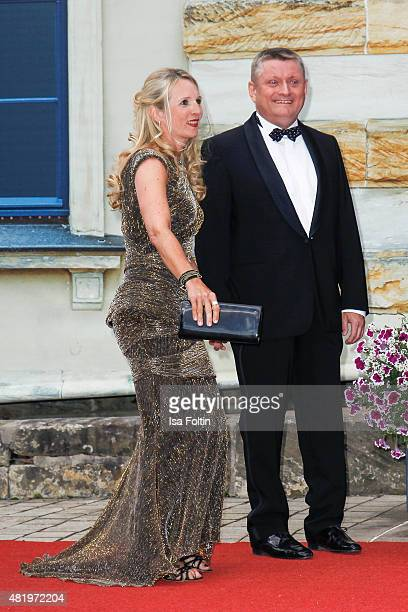 Heidi Groehe and Hermann Groehe attend the Bayreuth Festival 2015 Opening on July 25 2015 in Bayreuth Germany