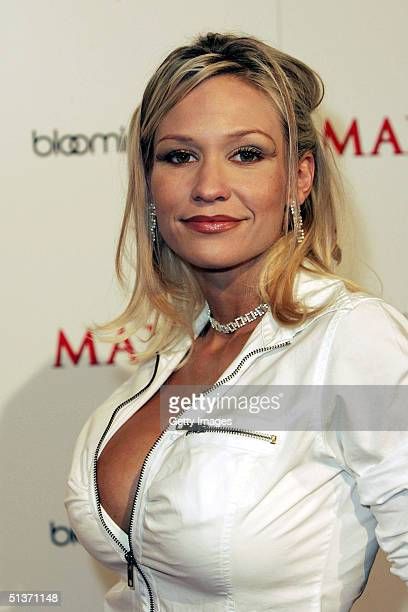 Heidi Hawking arrives for the Maxim Magazine Bowls for Dollars event at Lucky Strike Lanes on Hollywood Boulevard on September 28 2004 in Los Angeles
