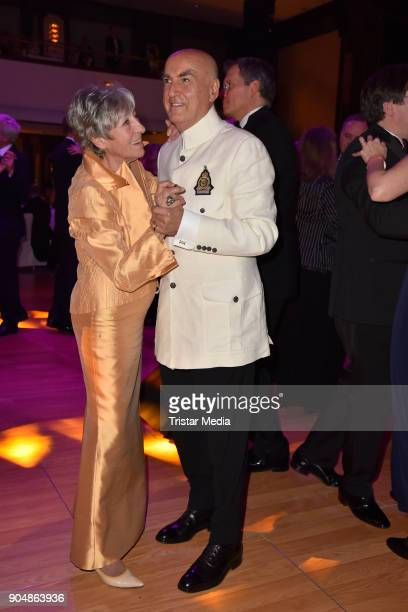 Heidi Hetzer and guest attend the 117th Press Ball on January 13 2018 in Berlin Germany